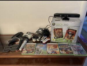 Xbox 360 Paket mit Kinect,Mikrofone,Buzzer uvm