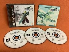Final Fantasy Vii 7 Ff Playstation 1 Ps1 Psone Black Label Game Complete!