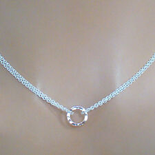 U&C Sundance Tiny 14k Rose Gold Circle Of Life .925 Silver Double Chain Necklace