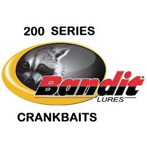 "Bandit 200 Series Crankbaits, 2"", 1/4 oz, New, Choice of Colors"