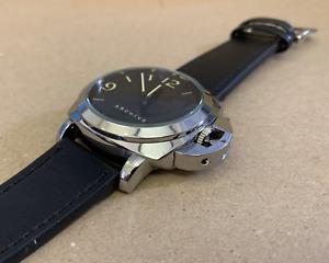 Homage watch / Marina Militare / 45mm  / black and silver / free Panerai badge