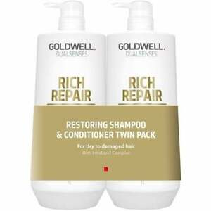 Goldwell DualSenses Rich Repair Restoring Shampoo & Conditioner Twin 2 x 1000ml