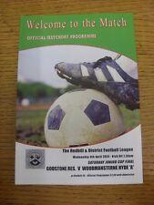 09/04/2014 Redhill League Saturday Junior Cup Final: Godstone Reserves v Woodman