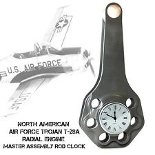 Curtiss Wright Air Force T-28A Trojan Radial Engine Master Assembly Rod Clock