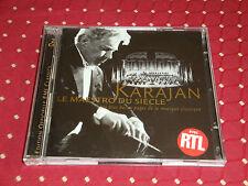 """2 CD """"KARAJAN LE MAESTRO DU SIÈCLE""""  ORCHESTRE PHILHARMONIQUE DE BERLIN / EMI"""