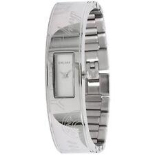 NWT DKNY Women's Watch All Silver Half SS Bangle Bracelet White Dial NY8290 $195