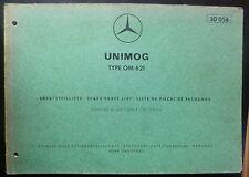 Mercedes Unimog Motoren OM 621 Ersatzteilliste