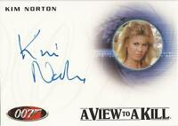 "James Bond 50th Anniversary - A167 Kim Norton ""Zorin Party Guest"" Autograph Card"