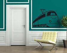 Smiling Train Animated Funny Children Mural Wall Art Decor Vinyl Sticker z092