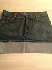 Arden B. Women's Skirt Denim Distressed Button Fly Stretch Skirt Size 6