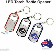 250 Custom PRINTED personalised  Promotional  LED Torch KEY RINGS Bottle Opener