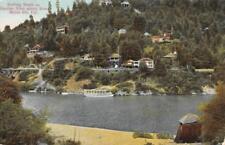 Bathing Beach on Russian River, Monte Rio, California ca 1910s Vintage Postcard