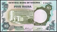 1973-78 Nigeria 5 Naira Banknote * DP/10 765914 * aUNC * P-16c * Sign 3 *