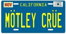 Motley Crue band metal 1981 California License plate