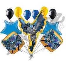 11 pc Batman in Flight Balloon Bouquet Super Hero Theme Happy Birthday Marvel
