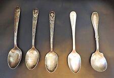 2119~Vtg (6) Silver Plate Spoons W. M.Rogers Presidents Buren Harrison Adams**