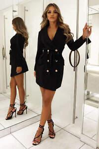 Ax Paris Black Blazer Dress RRP:£55.99 UK 8