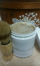 all natural Goatmilk/oatmeal bentonite shaving soap 4oz Bay Rum Lushes shave