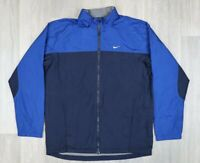 Mens Vintage Nike Blue Packable Hood Tracksuit Jacket Top size XL