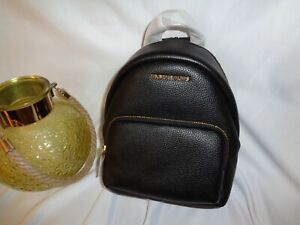 Michael Kors Erin Small Convertible Backpack Black Leather Messenger Handbag