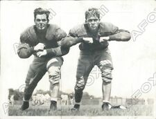 1942 Harvard Crimson Football Endicott Chub Peabody & Dick Pfister Press Photo