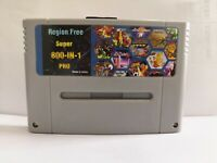 Super 800 in 1 PRO For SNES SFC Flash Cart with 8 GB Memory CardFree shipping