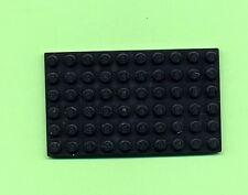 Lego--3033-- Grundplatte -- Bauplatte--- Schwarz -- 6 x 10 --