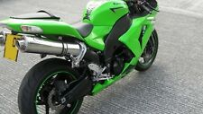 Kawasaki ZX10R 2006-07'  Polished Stainless round ROAD LEGAL MTC Exhausts
