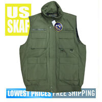 Oscar Sports Men's NWT Green Photog/ Hunting /Tactical 9-Pocket Zip Vest LARGE
