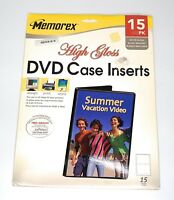 Memorex CD/DVD Jewel Case Inserts High Gloss 15 Pack New