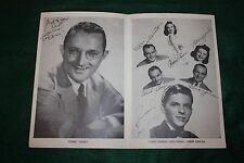 FRANK SINATRA - DORSEY - PIED PIPERS SIGNED 1941 AUTOGRAPHED Pleasure Beach CT