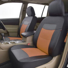 new arrival car seat covers front set deluxe PU leather car seat protector brown