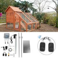 Automatic Chicken Coop Door Opener Light Infrared Sensor Electric Henhouse Guard