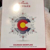 Hallmark Keepsake Ornament Colorado Snowflake,NMIB