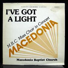 M.B.C. Macedona Baptist Church Choir - I've Got A Light LP VG+ Private MN Gospel