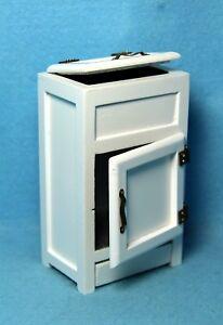 Dollhouse Miniature Kitchen Ice Box / Refrigerator With Drawer White ~ CLA10205
