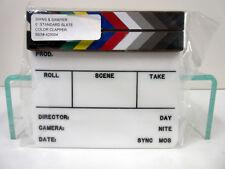 New Birns & Sawyer 425004 Acrylic Production Insert Slate Color Clapper Sticks