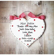 Personalised TEACHER Thank You End of Term Christmas Present Gift  ~ 500+ Sold