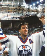 KEVIN LOWE SIGNED EDMONTON OILERS 8x10 PHOTO W/PROOF # 3
