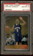 STEPHON MARBURY PSA 10 ROOKIE 1996-97 TOPPS CHROME 177 MINNESOTA TIMBERWOLVES