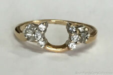 Estate Jewelry 0.25 Ctw Diamond Wrap Ring 14K Yellow Gold Band Size 5