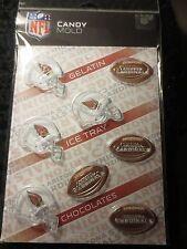 NFL ARIZONA CARDINALS CHOCOLATE MOLD gelatin ice cubes candy football molds