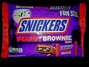 259.1g Snickers Peanut Brownie Squares Chocolate American Halloween Candy Sweets