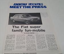 1980s FIAT LANCIA Meet the PRESS Australian Sales Brochure X1/9 131 132  Beta