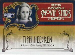 Tippi Hedren 2008 Donruss Americana Celebrity Cuts 66/200 AND Century Gold 25/25