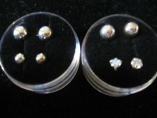 Piercing Screw Earrrings, Lip, Eyebrow CZs & Silver ball 2 Combos to choose from
