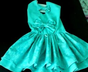 DOG DRESS/harness  Sea green   color  NEW   FREE SHIPPING