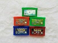 AUTHENTIC Pokemon Emerald, Fire Red, Sapphire, Leaf Green, & Ruby LOT BUNDLE GBA