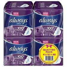 Always Ultra Long Sanitary Towels Pads With Wings Pack of 48, 96 or 144