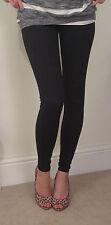 PETITE LENGTH Leggings pants COTTON stretch black SIZE 8 10 12 14 16 18 20 S M L